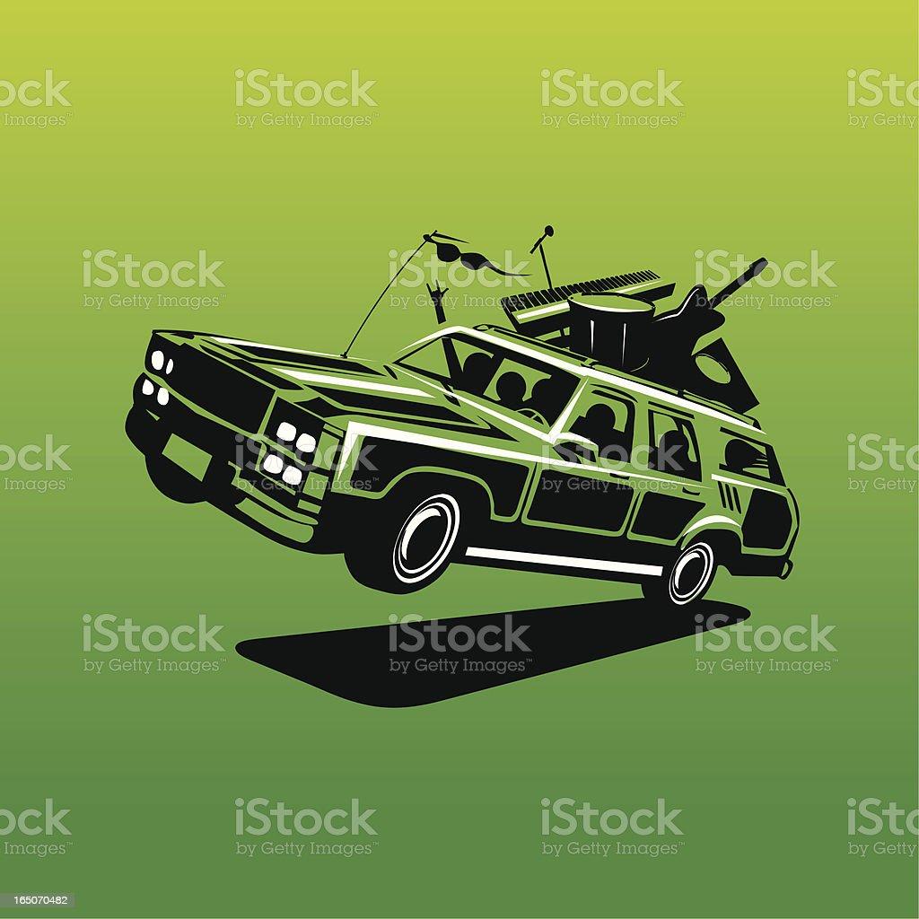 Jump on the band wagon! vector art illustration