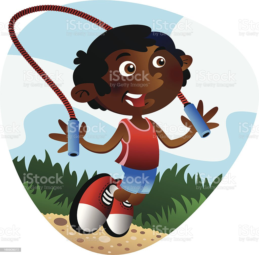 Jump Rope Boy royalty-free jump rope boy stock vector art & more images of boys