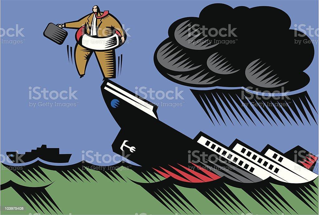 Jump Ship royalty-free stock vector art