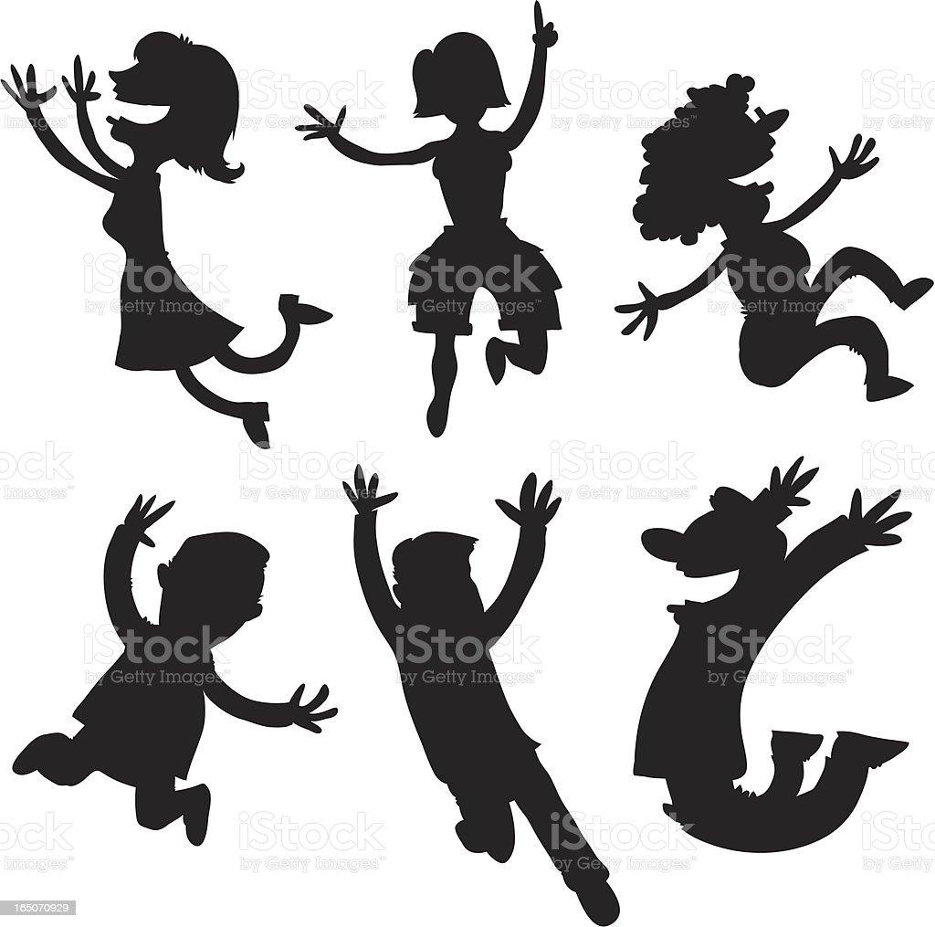 Jump! vector art illustration