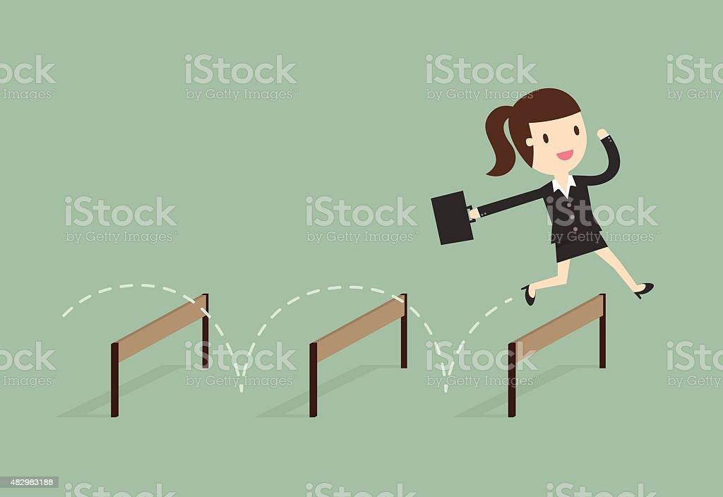 jump vector art illustration