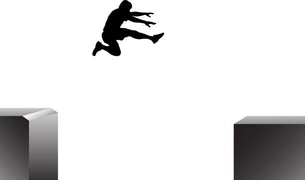 bildbanksillustrationer, clip art samt tecknat material och ikoner med jump - parkour