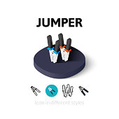 Jumper icon in different style
