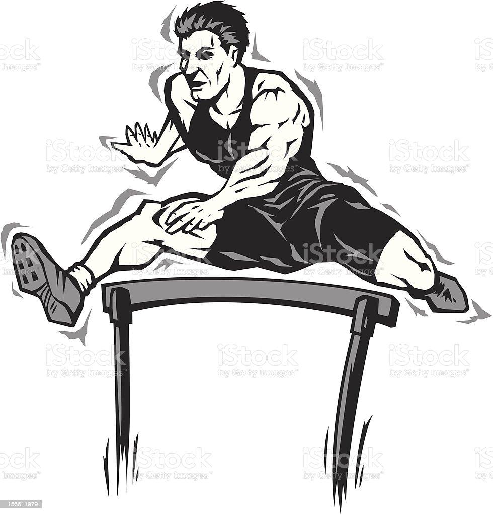 Jumping athlete royalty-free stock vector art