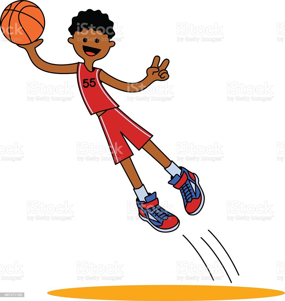 Jumping Basketball Player Aa Stock Vector Art More Images Of 2015