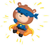 Jumping Bear Superhero