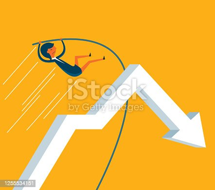 istock Jumping - Businesswoman 1255534151