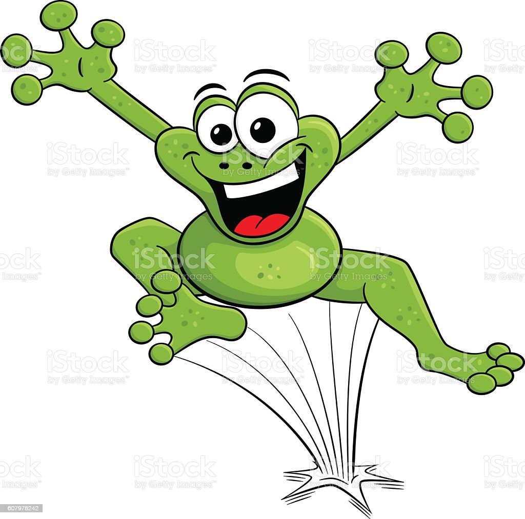 royalty free jumping frog clip art vector images illustrations rh istockphoto com clipart frog black and white clipart frog