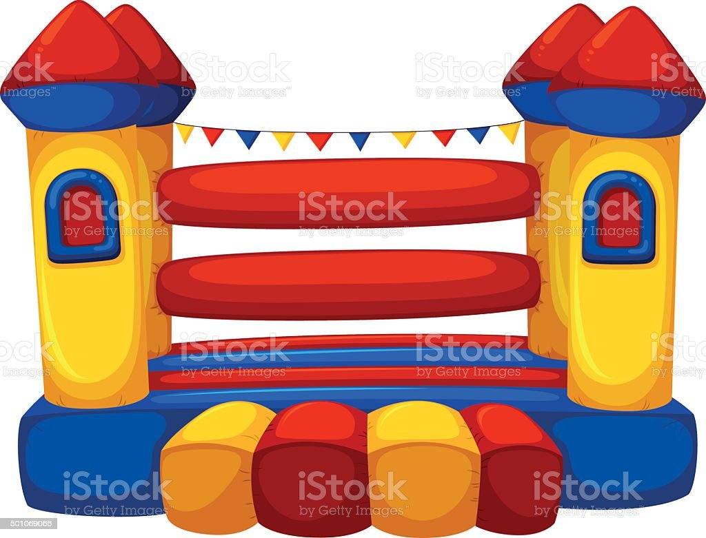 royalty free bounce house clip art vector images illustrations rh istockphoto com bounce house clipart images bounce house clipart black and white