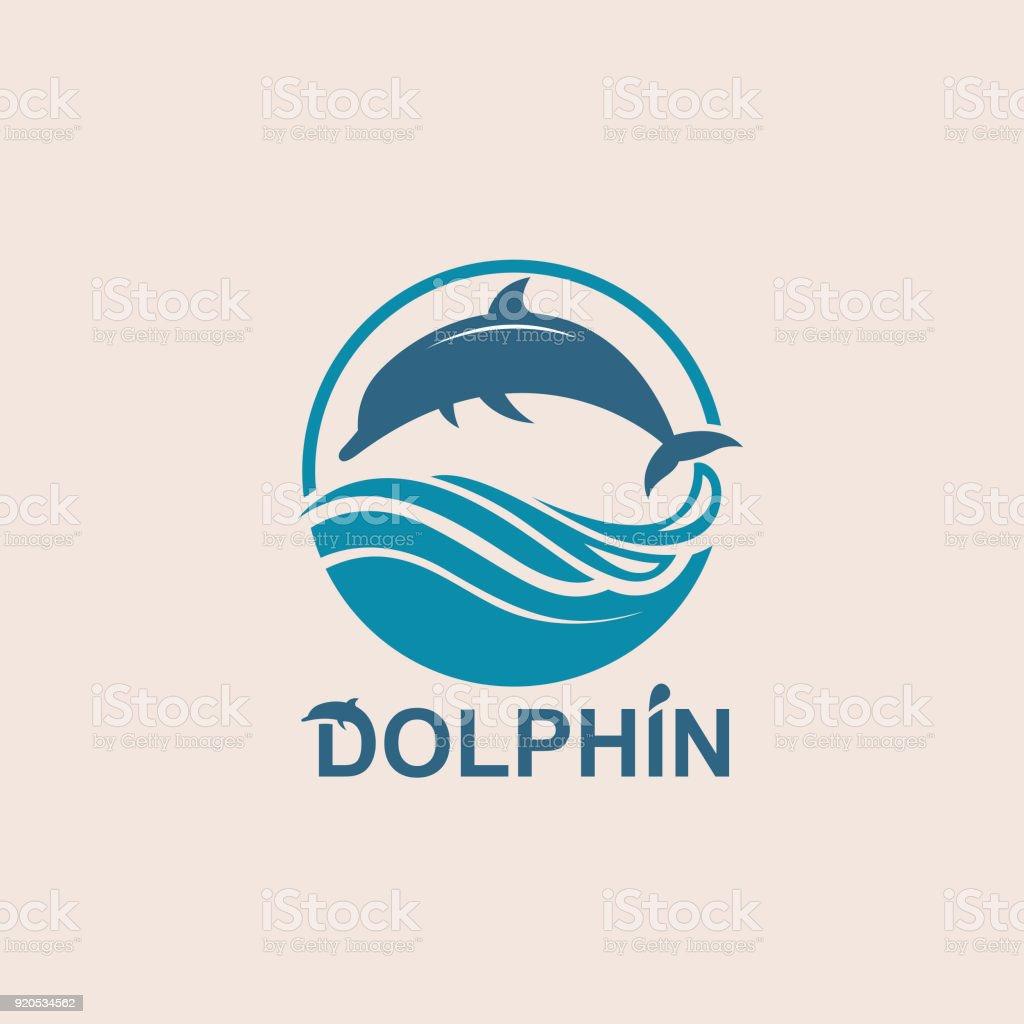 jumping dolphin emblem