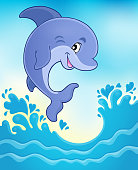 Jumping dolphin theme image 6
