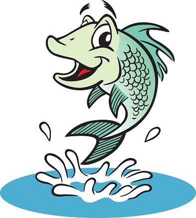 Jumping Fish-vektorgrafik och fler bilder på Bass