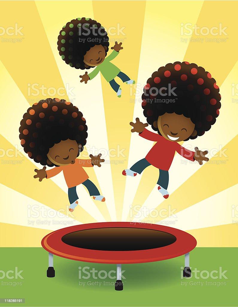 Jumping for Joy royalty-free stock vector art