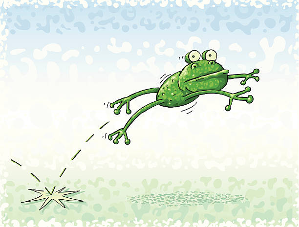 Royalty Free Frog Jump Clip Art, Vector Images ...