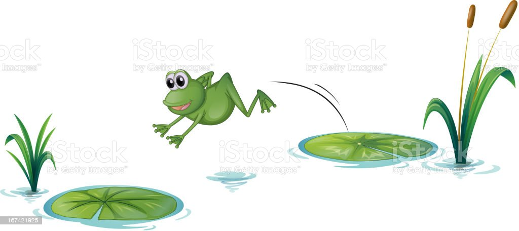 royalty free jumping frog clip art vector images illustrations rh istockphoto com Cute Frog Clip Art jumping frog clipart black and white