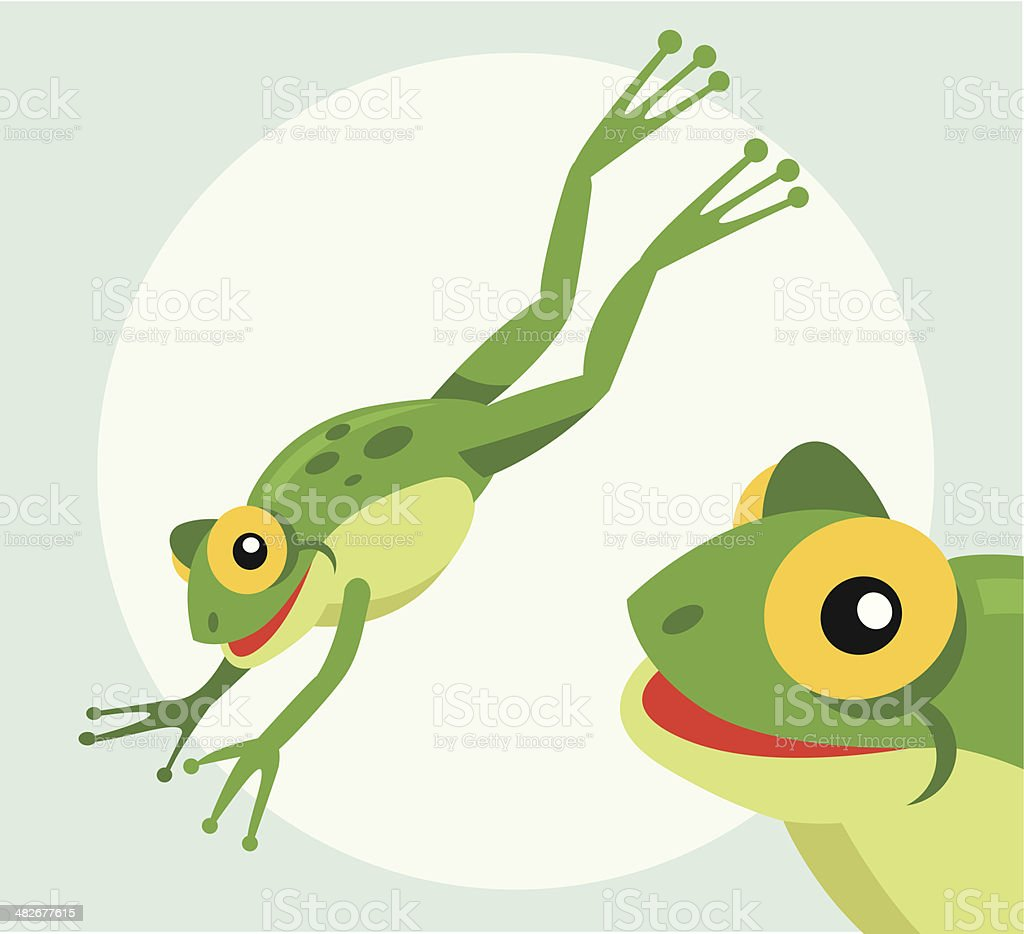 royalty free jumping frog clip art vector images illustrations rh istockphoto com Group Hopping Frogs Hop Like a Frog