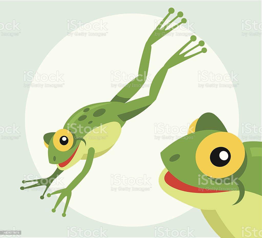 Jumping frog vektorkonstillustration