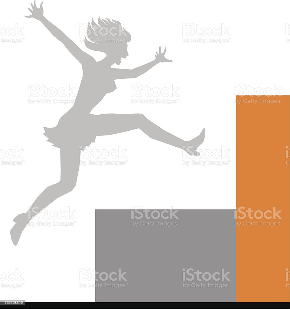 Jumping Girl royalty-free stock vector art