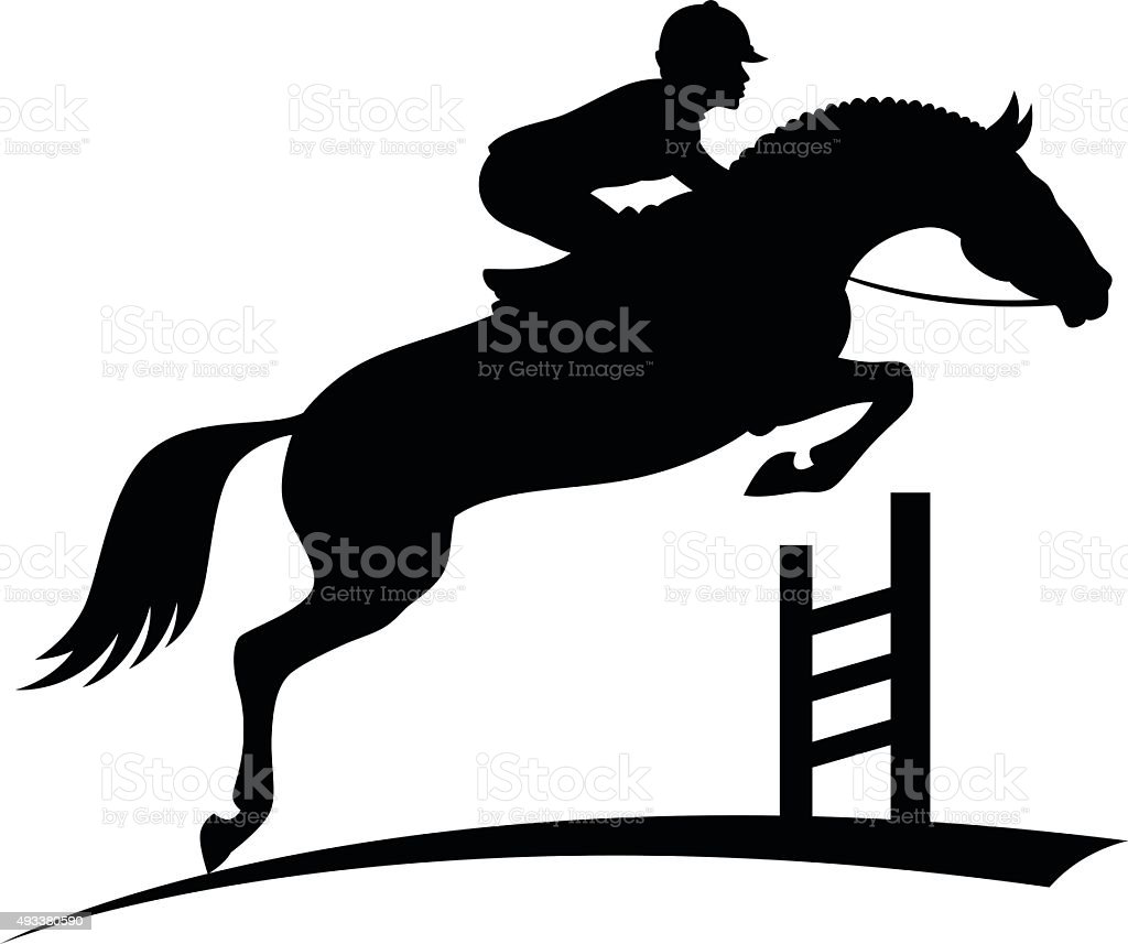 royalty free riding horse clip art vector images illustrations rh istockphoto com horse rider jumping clipart horse jumping outline clipart