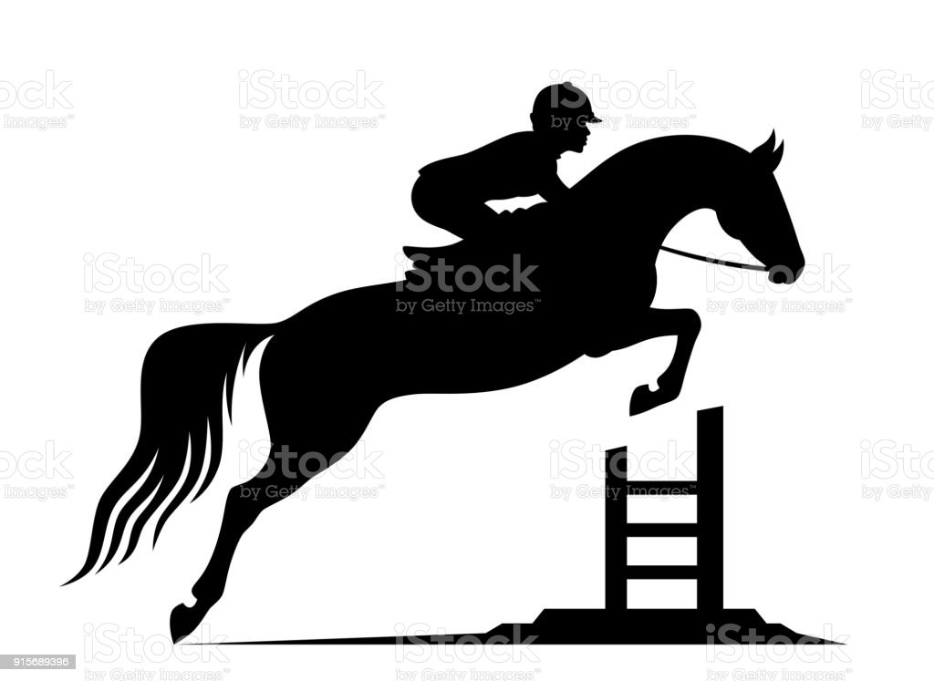Jumping Horse Stock Illustration Download Image Now Istock
