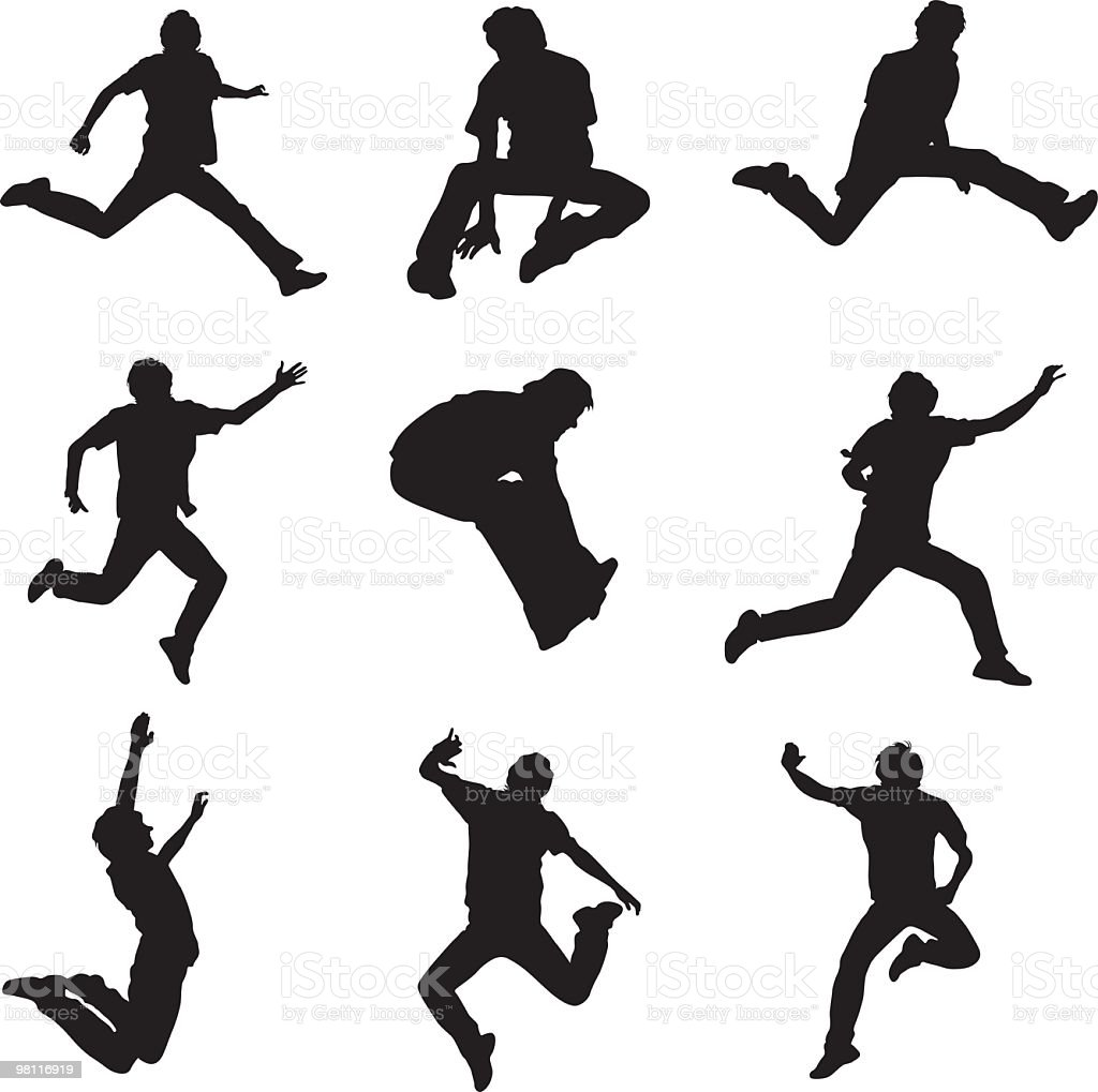 Jumping man royalty-free jumping man stock vector art & more images of adult