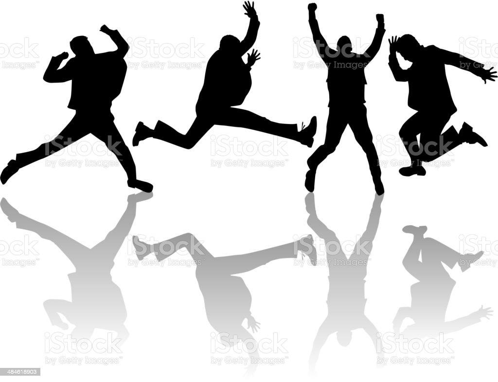 Jumping Man, vector work vector art illustration
