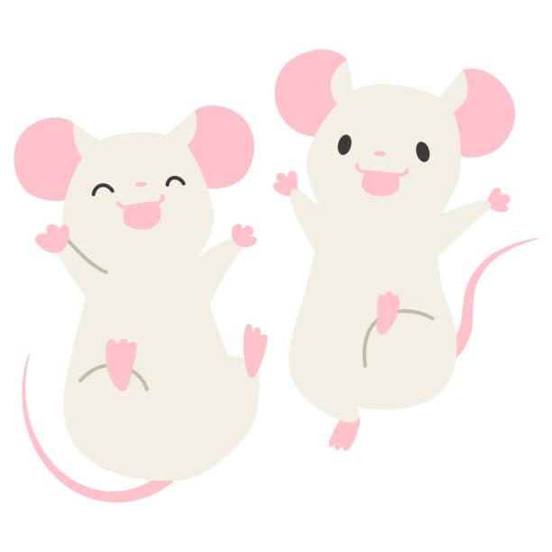ジャンプマウス ベクターアートイラスト
