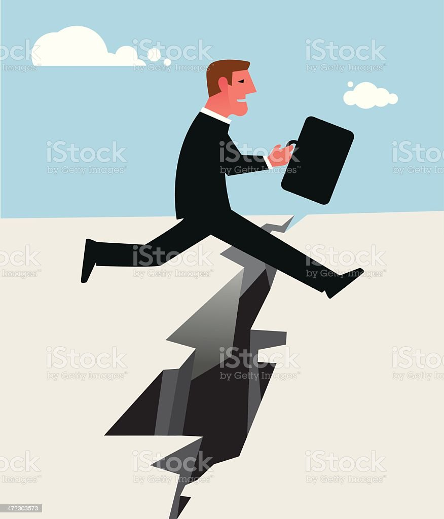 Jumping over obstacles royalty-free stock vector art