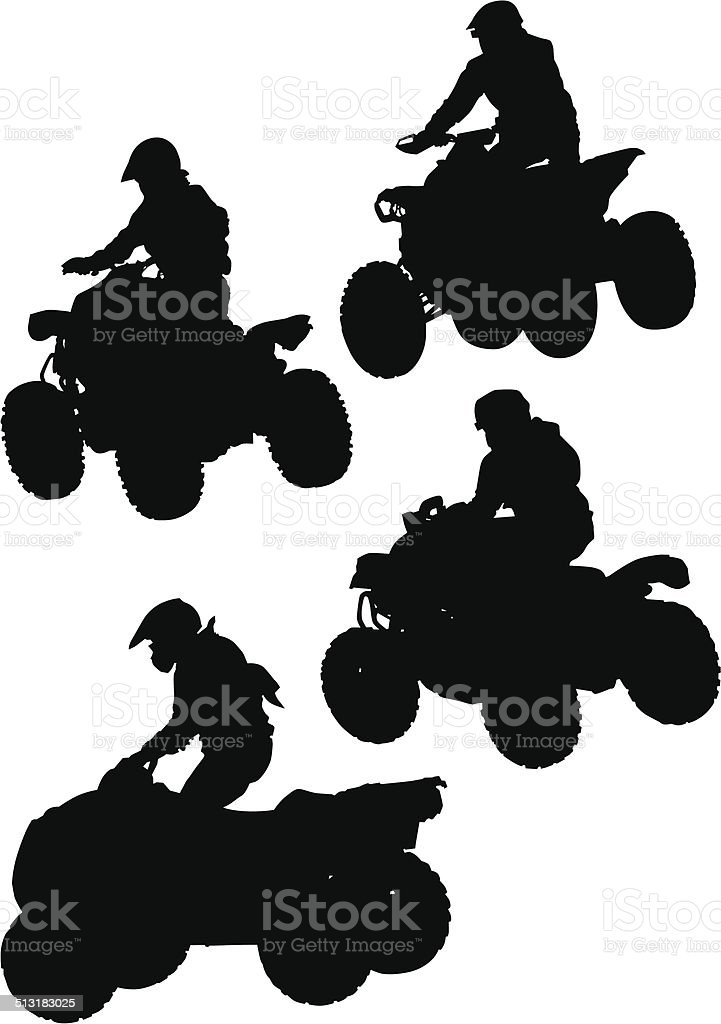 Jumping quad vector art illustration