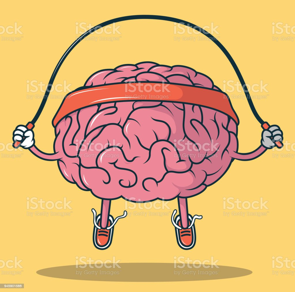 Jumping Rope Brain vector illustration royalty-free jumping rope brain vector illustration stock illustration - download image now