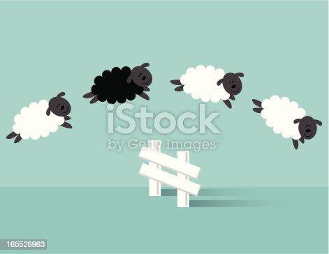 istock Jumping Sheep 165526963