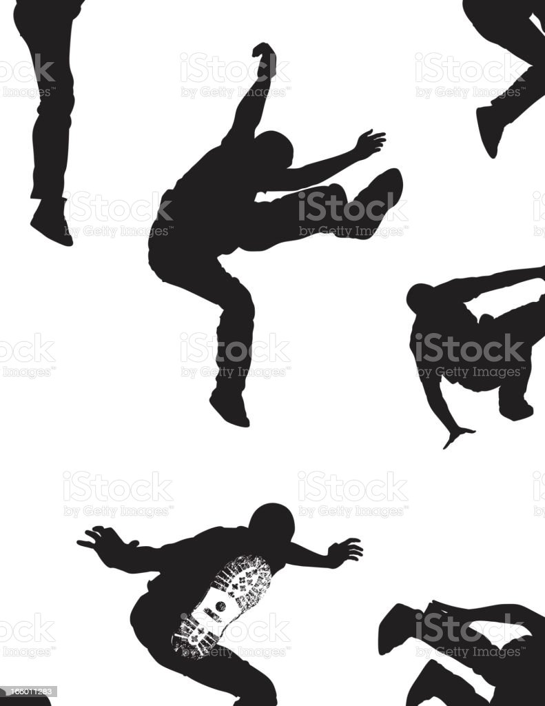 Jumping Silhouette royalty-free stock vector art