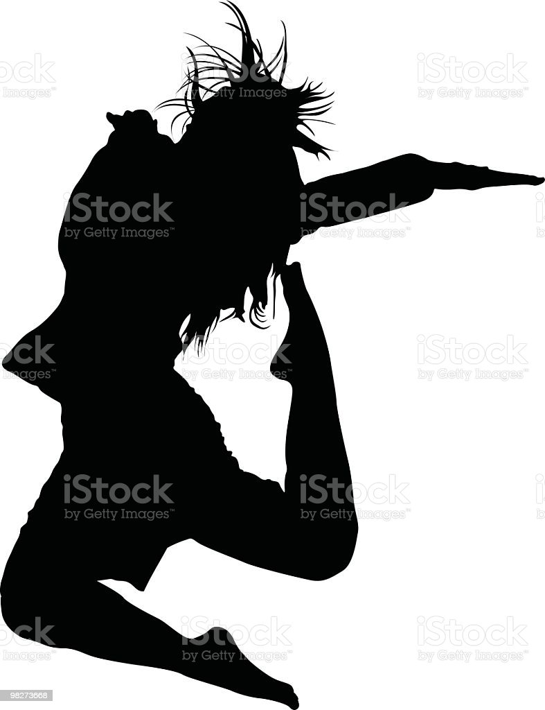 Jumping woman - to use in your design royalty-free jumping woman to use in your design stock vector art & more images of adult