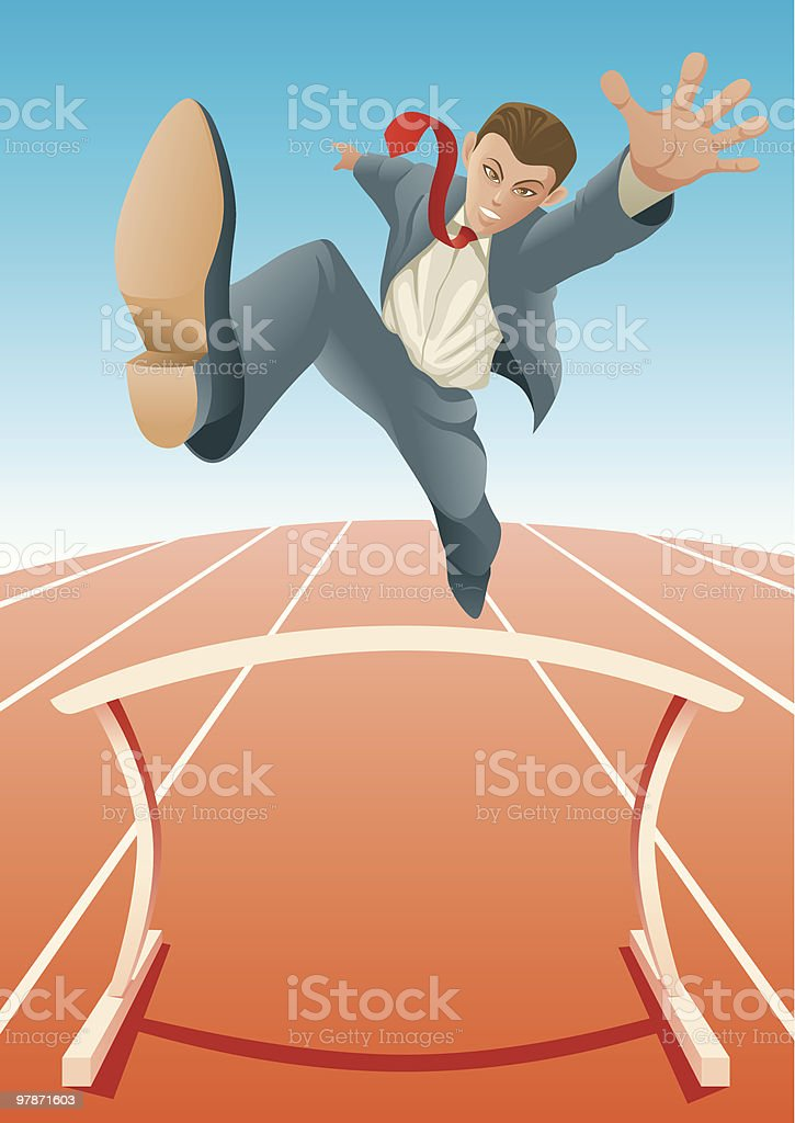 Jumps over Hurdle royalty-free stock vector art