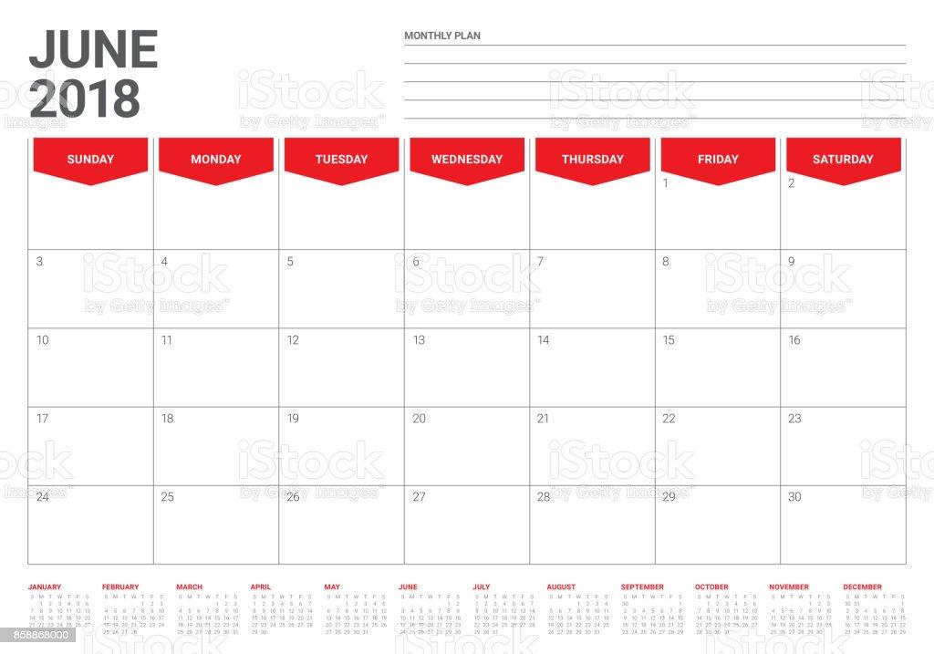 Calendar Planner Vector : Free june calendar pertamini