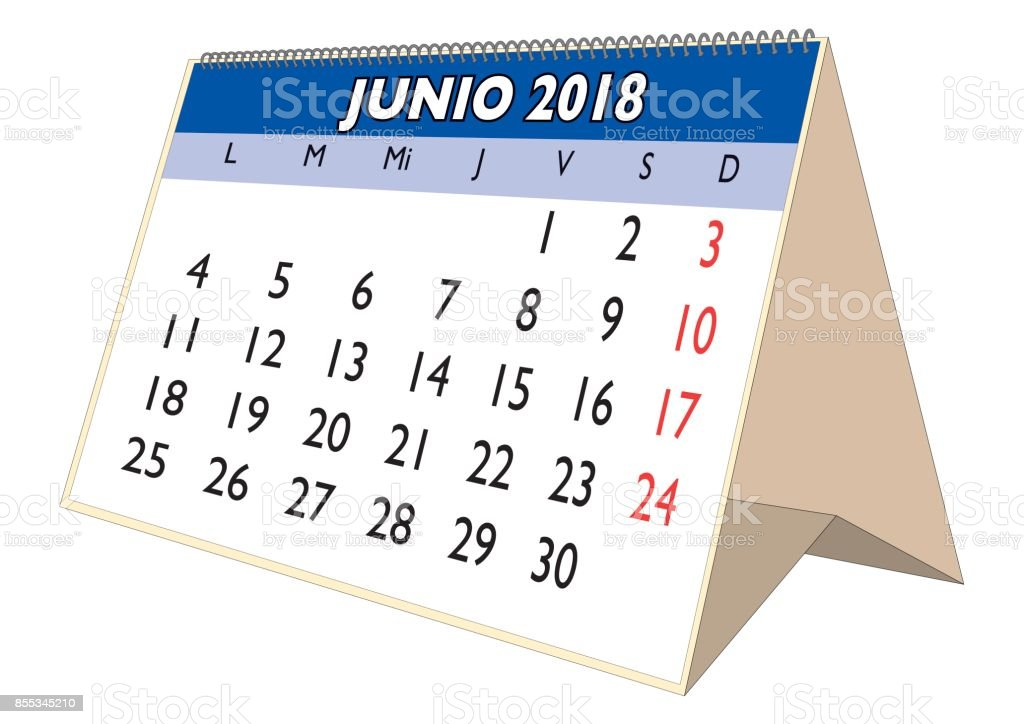 june 2018 desk calendar in spanish junio 2018 royalty free june 2018 desk calendar in