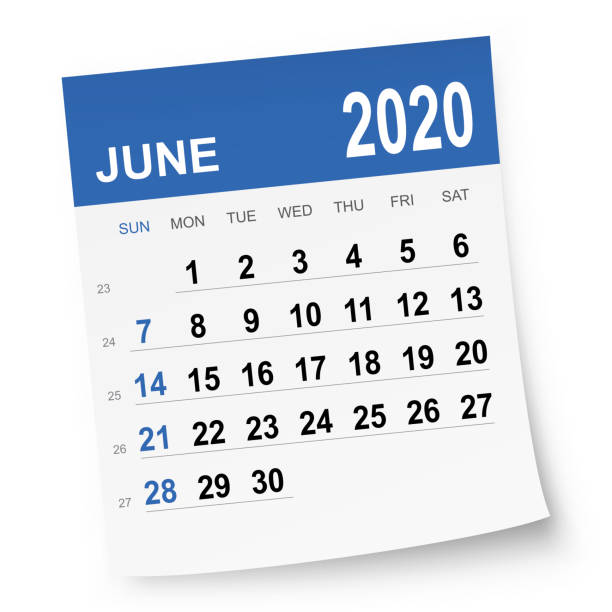 stockillustraties, clipart, cartoons en iconen met 2020 juni kalender - juni