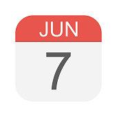 Resultado de imagen de 7 de junio calendario