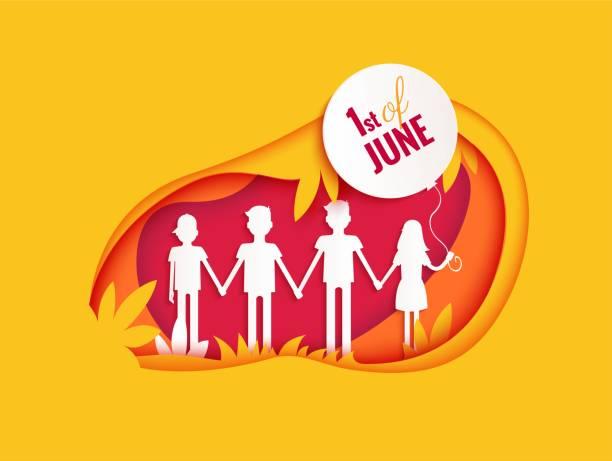 ilustrações, clipart, desenhos animados e ícones de cartaz de dia 1 de junho internacional para crianças - dia das crianças