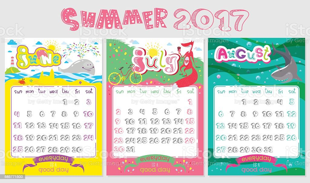 Calendar Design July : Clipart calendar july library