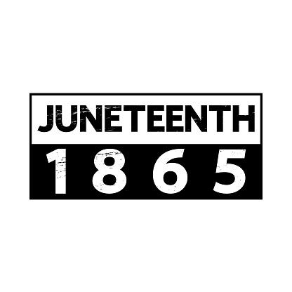 Juneteenth 1965 poster, t-shirt design, banner, card, festive sticker.