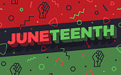 Seamless Juneteenth holiday background abstract pattern.