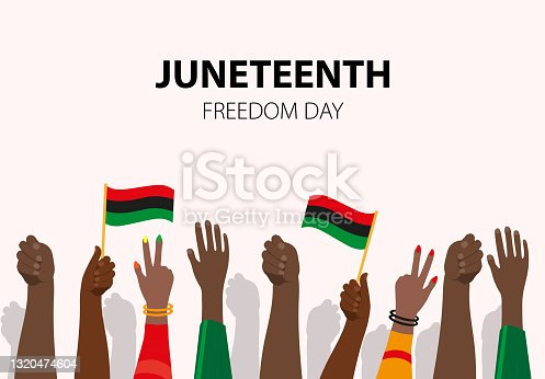 istock Juneteenth, African-American Independence Day, June 19. Day of freedom and emancipation 1320474604