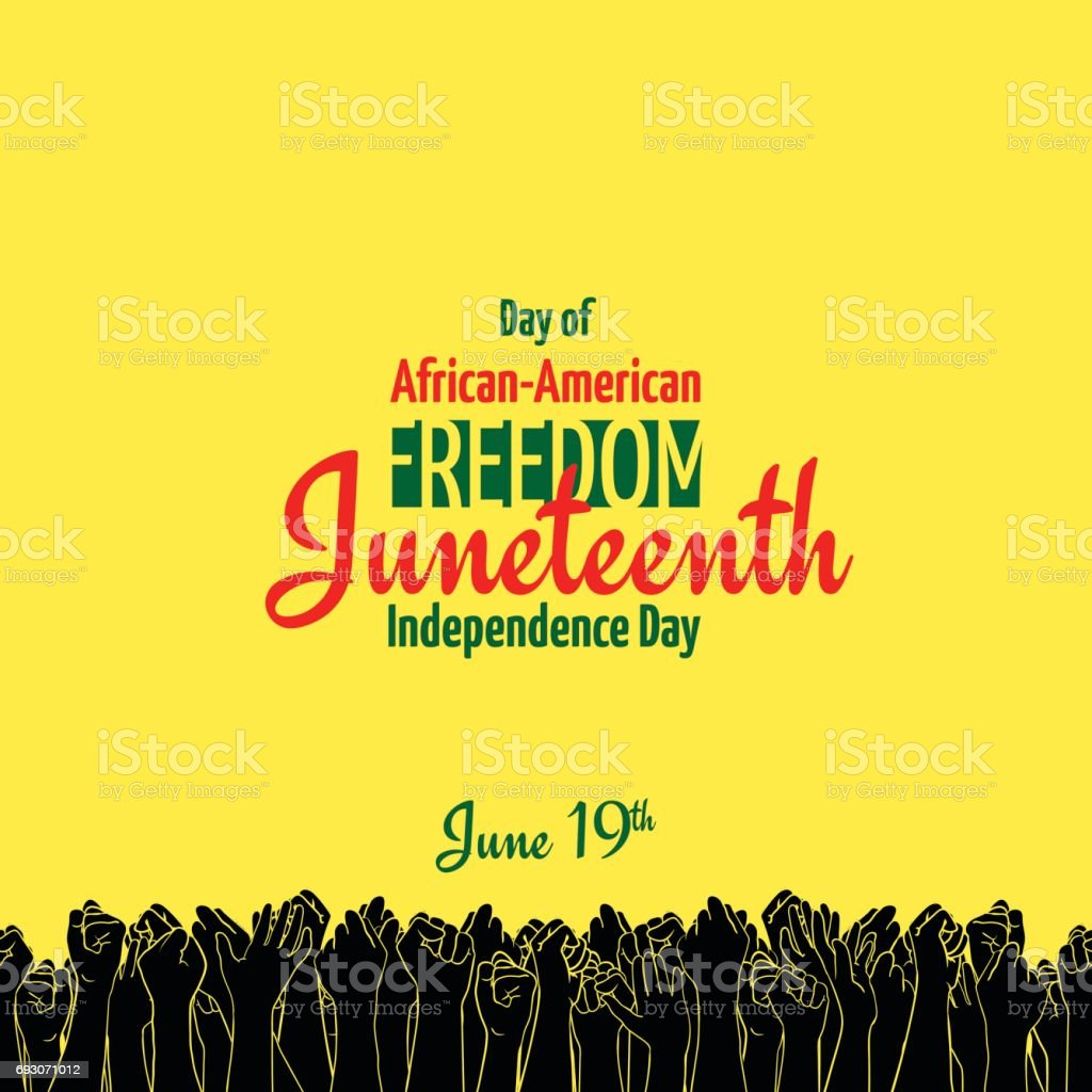 Juneteenth, African-American Independence Day, June 19. Day of Freedom and Emancipation vector art illustration