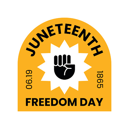 Juneteenth Freedom Day. Free-ish since 06.19.1865. Vector illustration isolated