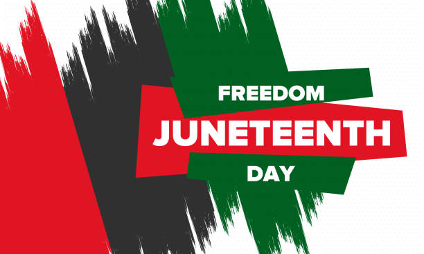Juneteenth Independence Day. Freedom or Emancipation day. Annual american holiday, celebrated in June 19. African-American history and heritage. Poster, greeting card, banner and background. Vector Juneteenth Independence Day. Freedom or Emancipation day. Annual american holiday, celebrated in June 19. African-American history and heritage. Poster, greeting card, banner and background. Vector civil rights stock illustrations