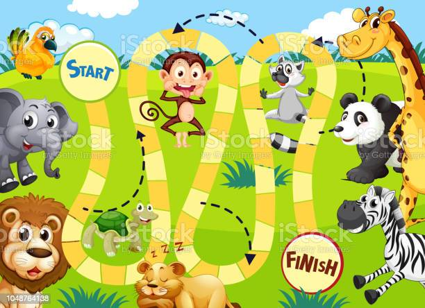 Jungle animal board game template vector id1048764138?b=1&k=6&m=1048764138&s=612x612&h=8z8igl4nncicgbma5i6pk3di1cx1fcoxuhkrq06huye=