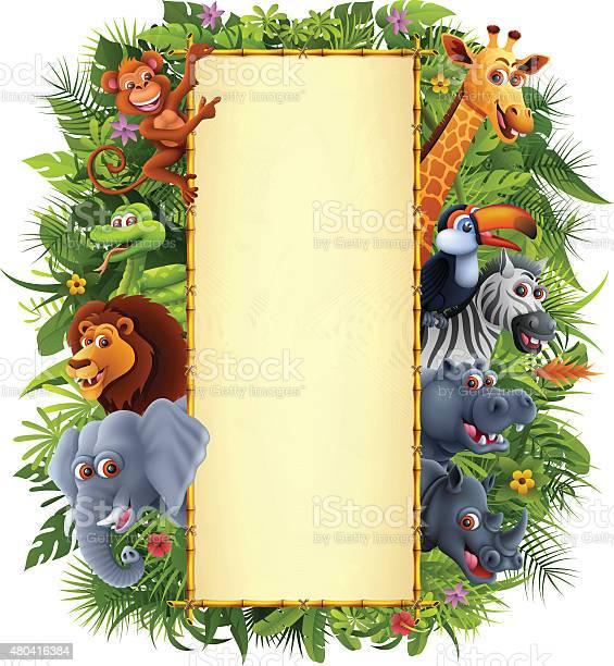 Jungle animals and bamboo sign vector id480416384?b=1&k=6&m=480416384&s=612x612&h=ciixzr5icorvwhcmp4xcy 71ion dcrsnoqda6h2kxg=