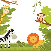 Wild animals border
