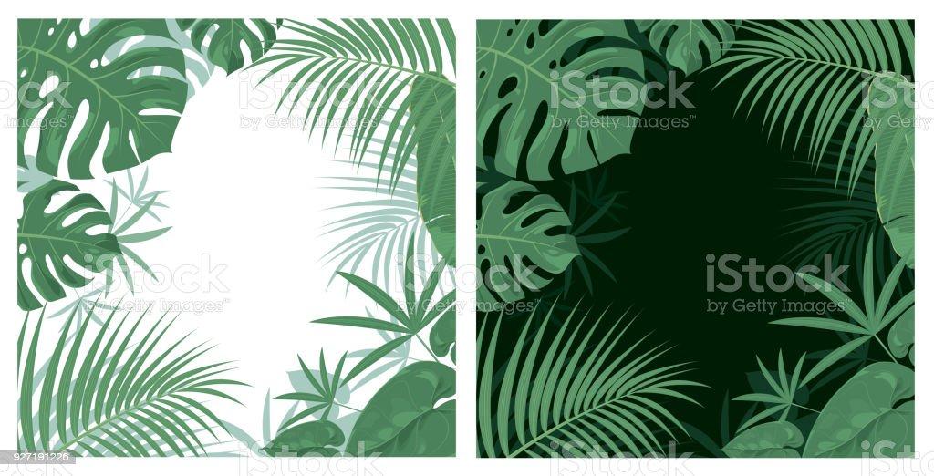 Fond de la Jungle  - Illustration vectorielle